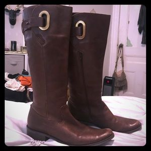 Shoes - Brown Genuine Leather Riding Boots 🏇🏻🐎